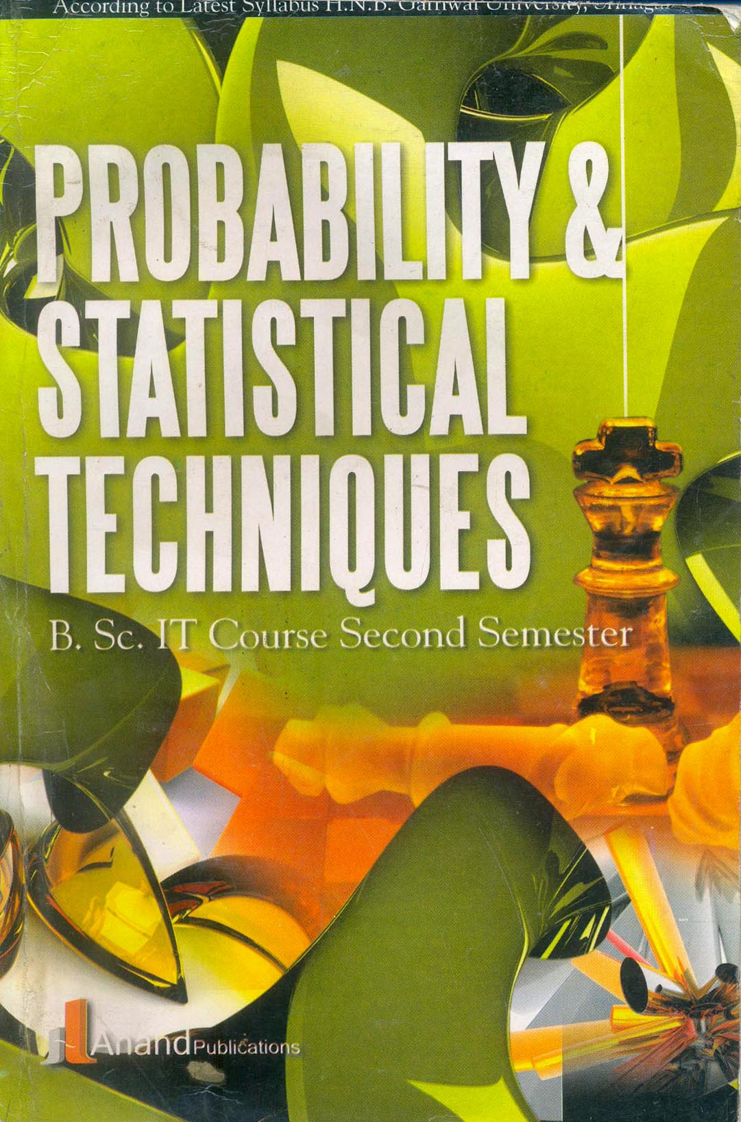 204 PROBABILITY & STATISTICAL TECHNIQUES