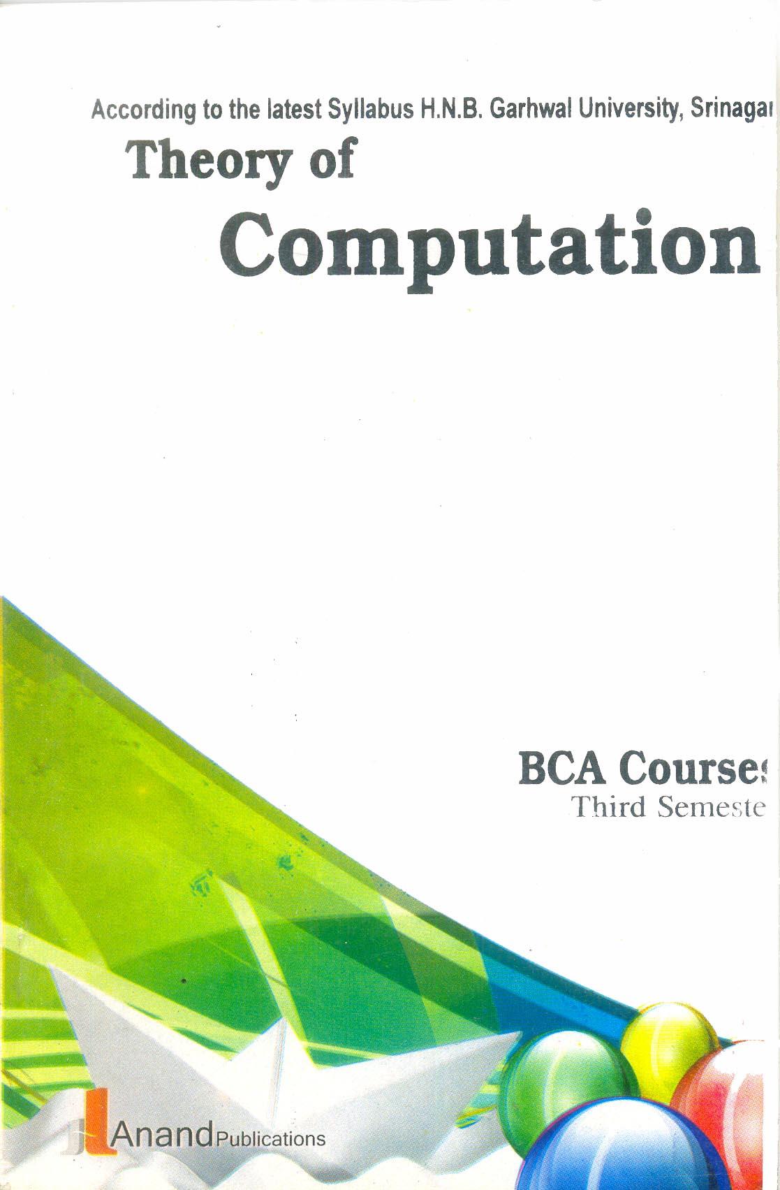 303 Theory of Computation